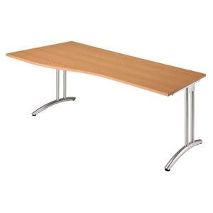Schreibtischserie B: Schreibtisch BS 18 mit C-Fuß-Gestell