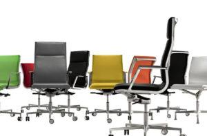 Bürostuhl »Nulite« – hochwertiger Lederbezug in verschiedenen Farben