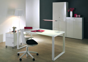 Maxim »weiß« – Rollcontainer, Schreibtisch, Aktenschrank, Sideboard