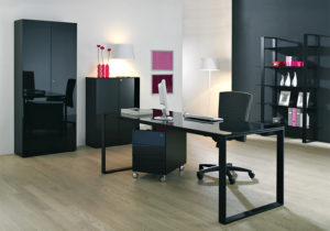 Maxim »schwarz« von Reinhart – Regal, Schreibtisch, Rollcontainer, Schrank