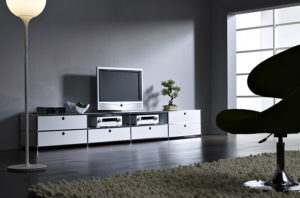 Viasit System 4 – TV Bank mit Schubladenelementen
