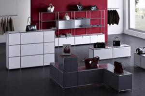 duco system – Ladeneinrichtung mit Präsentationsflächen