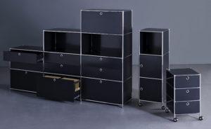 Viasit System 4 – Regalsystem und Rollcontainer