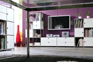 Viasit System 4 – Wohnzimmer Regalsystem, TV, Bücherregal